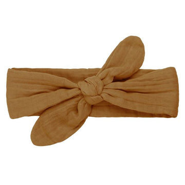 romy bow headband - gold