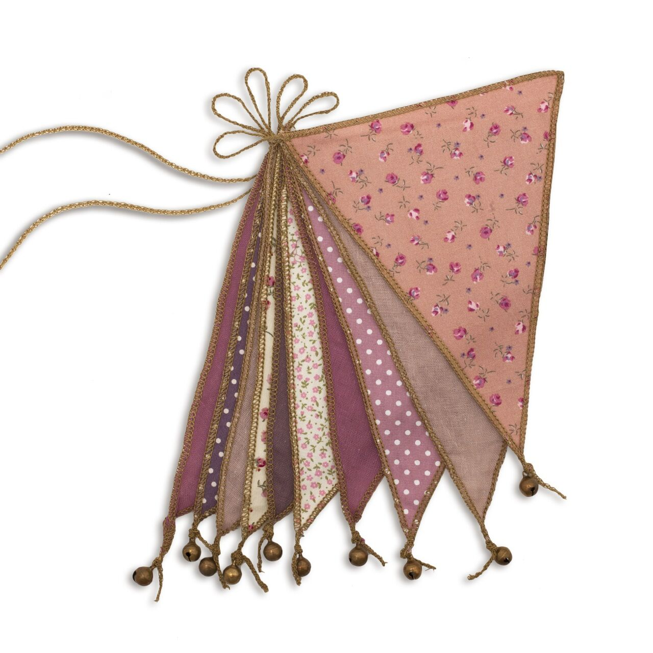 bunting - mixed pinks