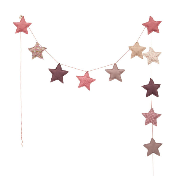 star garland - mixed pinks