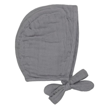 baby bonnet - stone grey