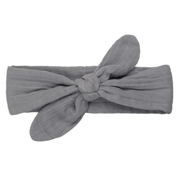 romy bow headband - stone grey