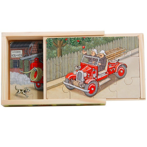 'ornis cars' fire engine boxed puzzles - set of 4, 12 piece