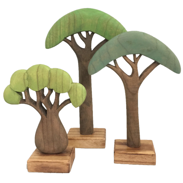 wooden tree set - green
