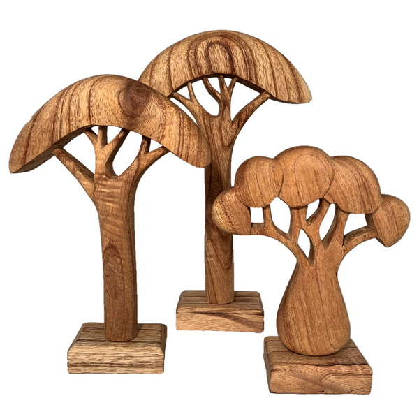 wooden tree set - natural