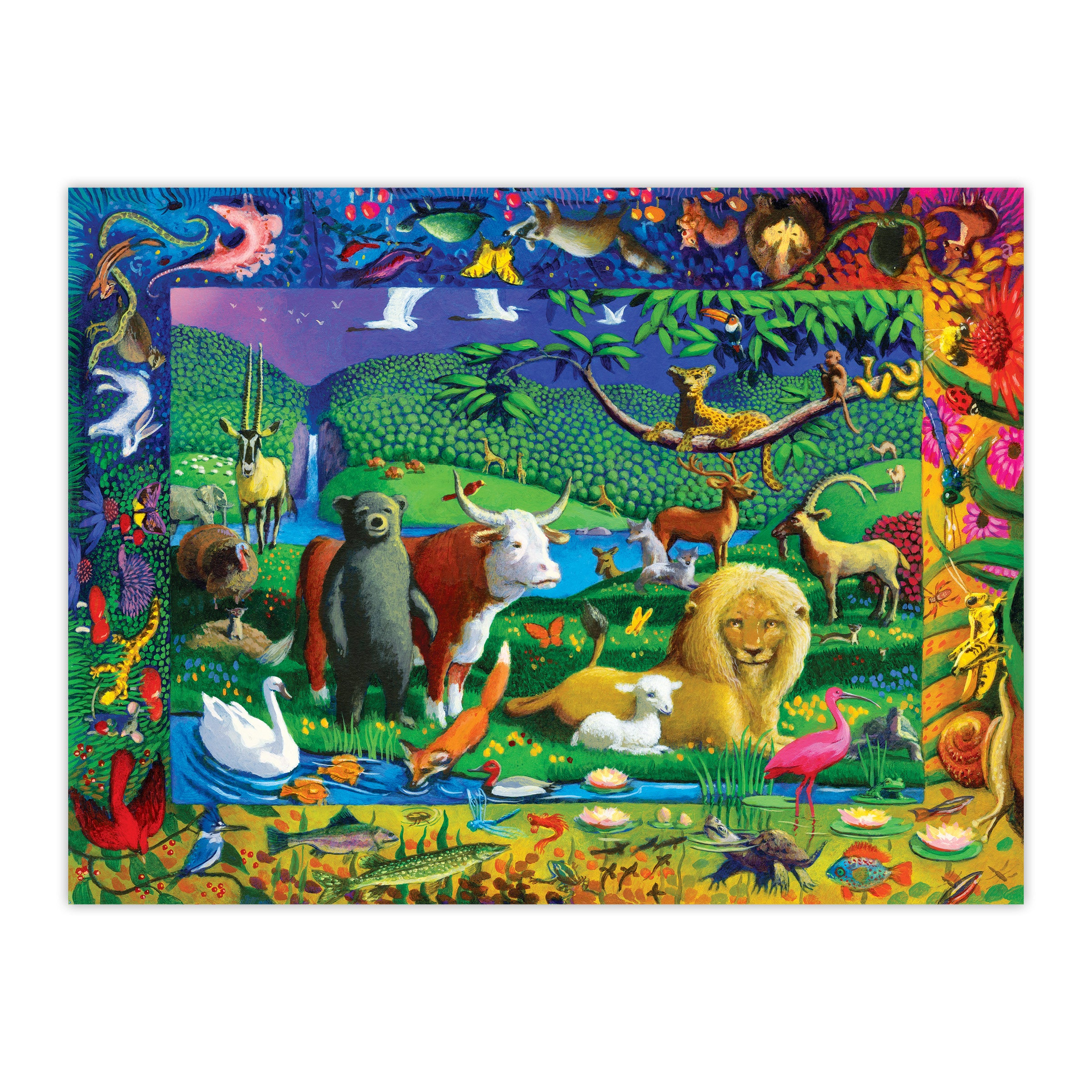 peaceable kingdom puzzle - 500 piece