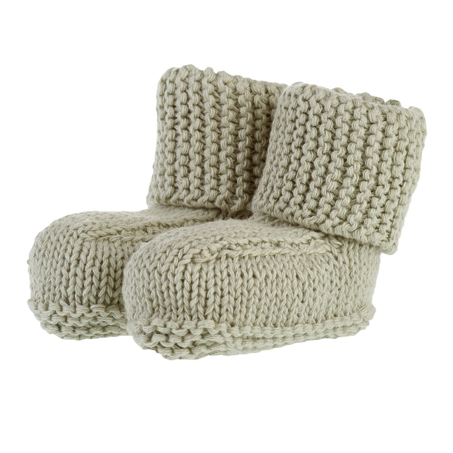 organic cotton baby booties - oak