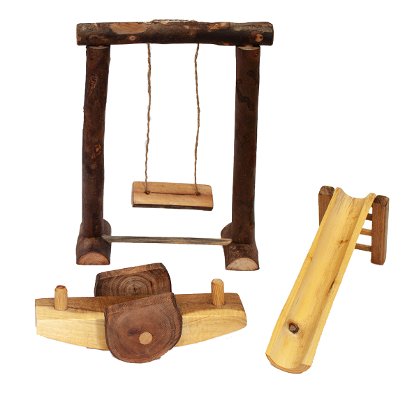 wooden playground - set of 3