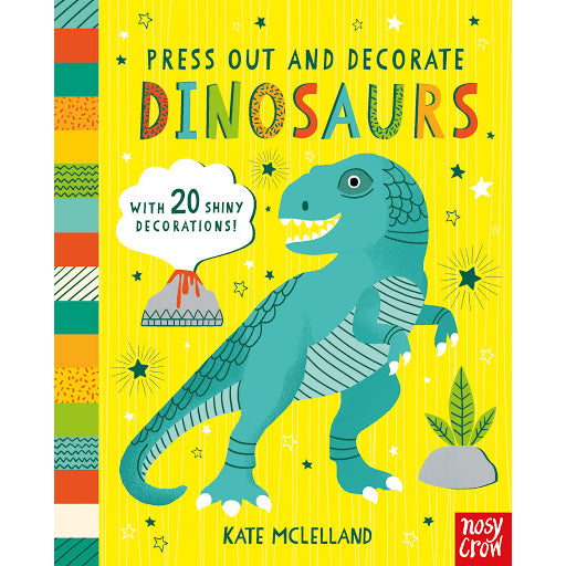 press out and decorate; dinosaurs