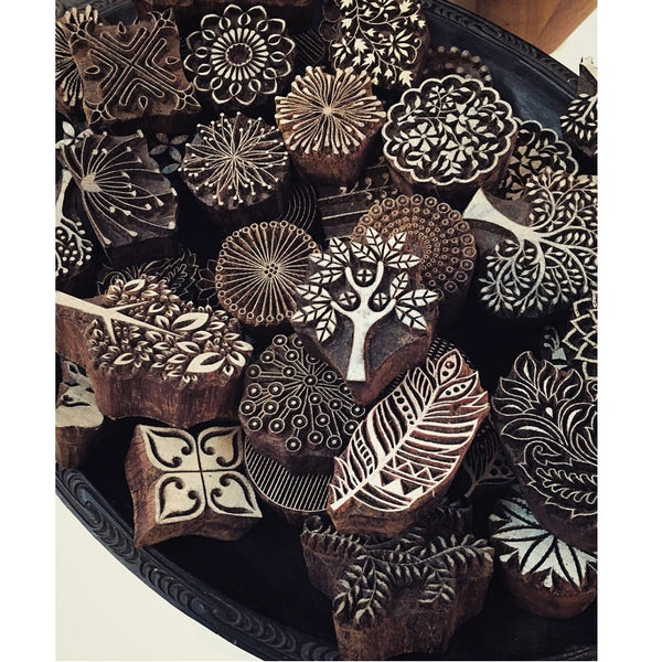 medium wooden printing stamps