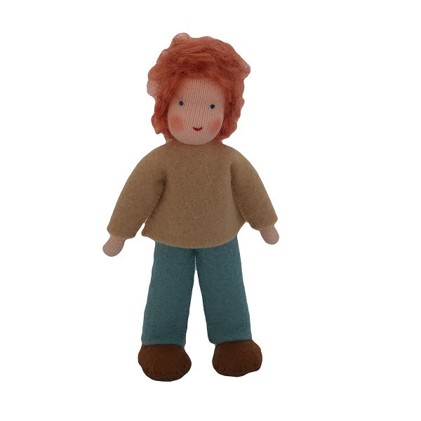 red hair dollhouse brother doll