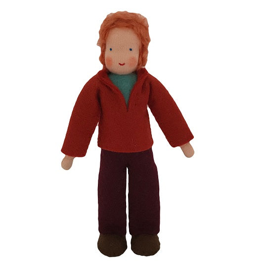 red hair dollhouse father doll