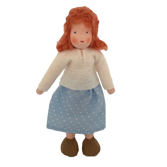 red hair dollhouse mother doll