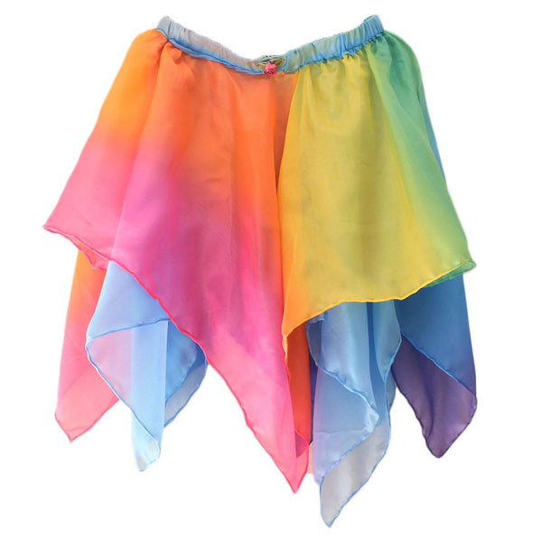 silk fairy skirt - rainbow/sky