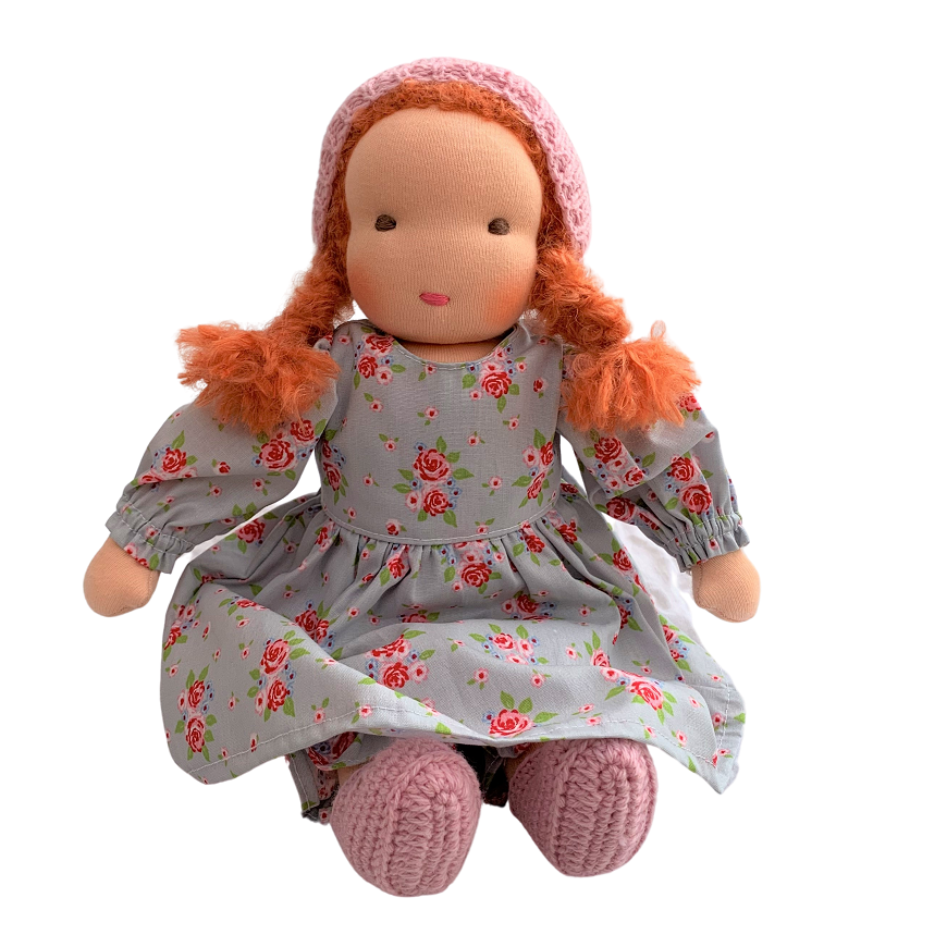 scarlett - waldorf girl doll with red hair (various)