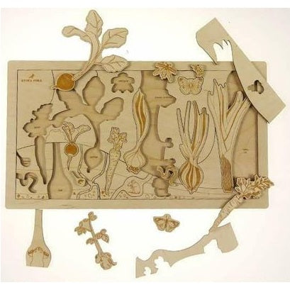 secret garden, vegetable puzzle