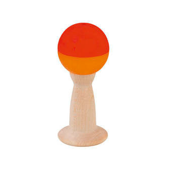 wooden grip rattle