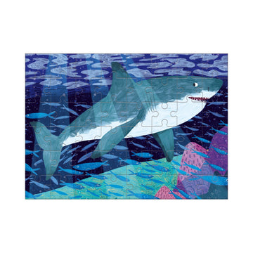 great water shark mini puzzle - 48 piece