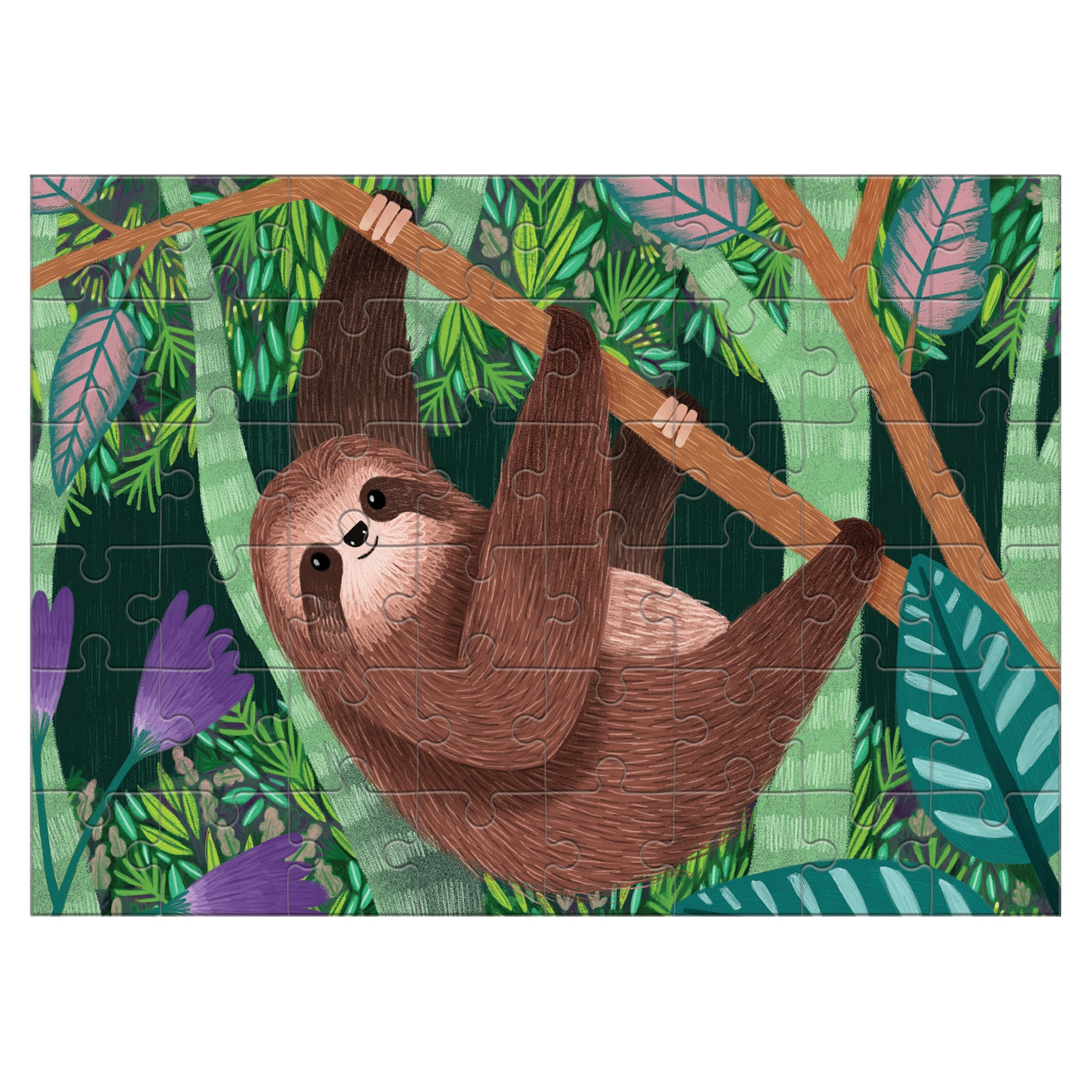sloth mini puzzle - 48 piece