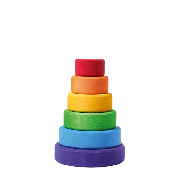 rainbow conical stacking tower - small