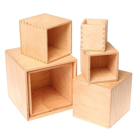 natural stacking boxes - medium