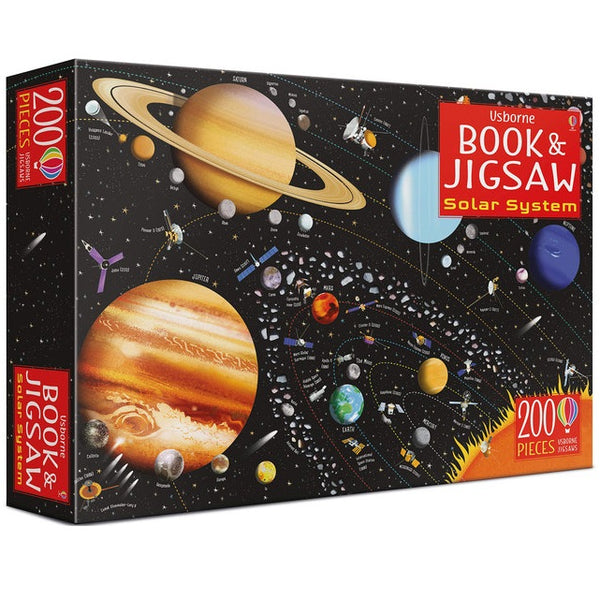solar system puzzle and book - 200 piece