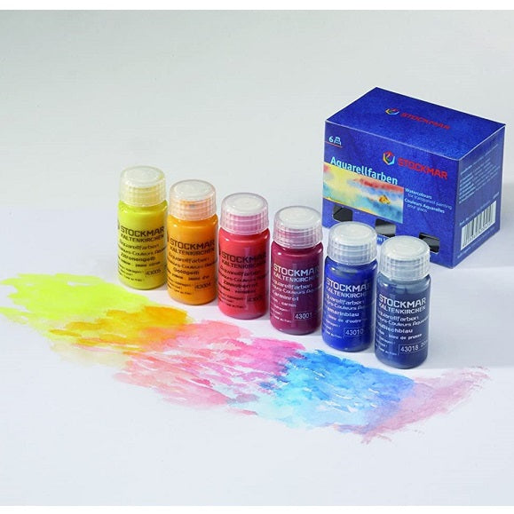 watercolour paints - set of 6