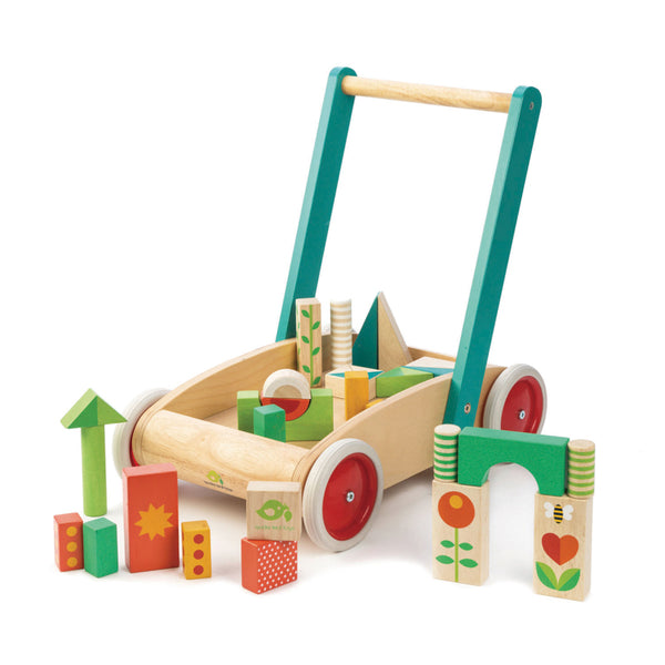 walker wagon with wooden blocks