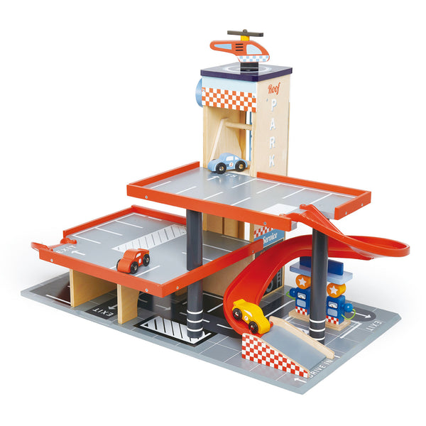 blue bird service station playset