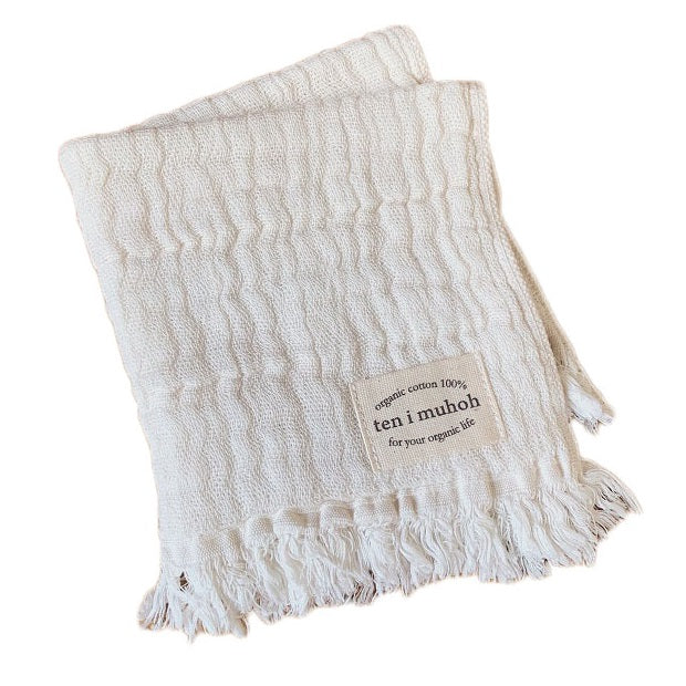 organic cotton face cloth - natural