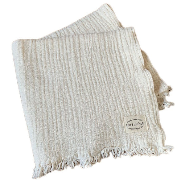 organic cotton towel - natural
