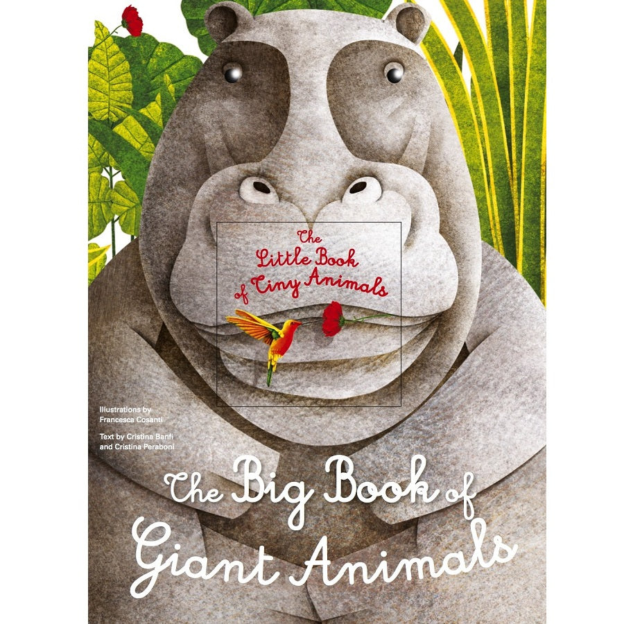 the big book of giant animals; the little book tiny animals