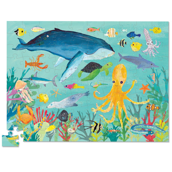 thirty six ocean animals puzzle - 100 piece