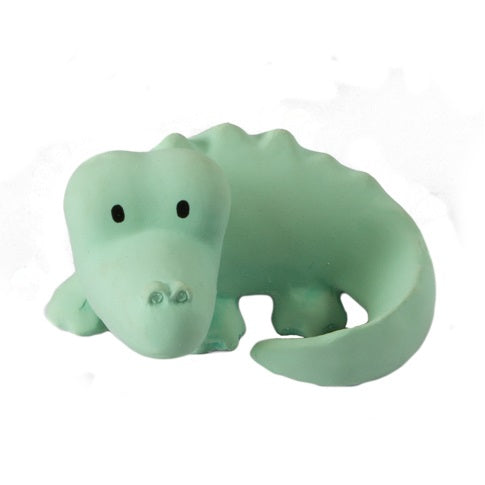 natural rubber teether / bath toy - crocodile