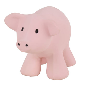 natural rubber teether / bath toy - pig