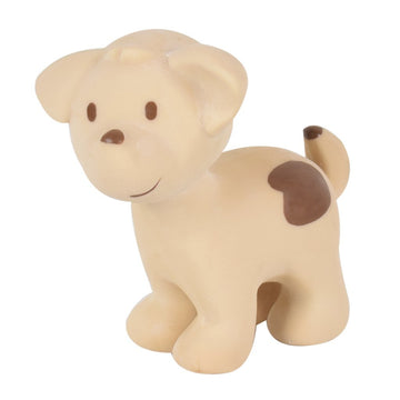 natural rubber teether / bath toy - puppy