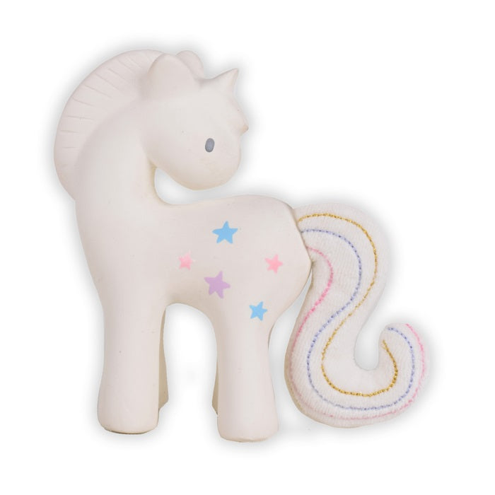 natural rubber teether - unicorn