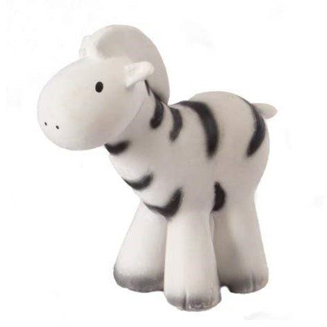 natural rubber teether / bath toy - zebra