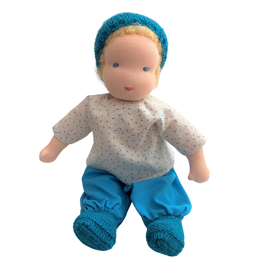 tommy - waldorf boy doll with blonde hair (various)