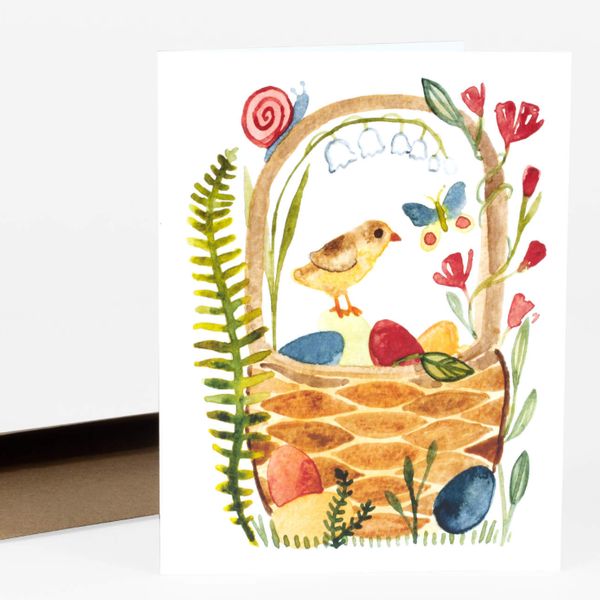 'easter basket' greeting card