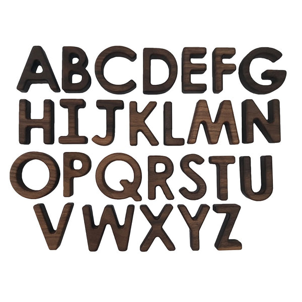 wooden upper case letter set