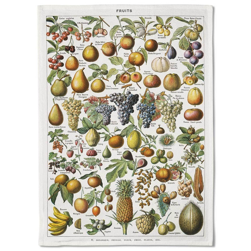 tea towel - vintage fruits