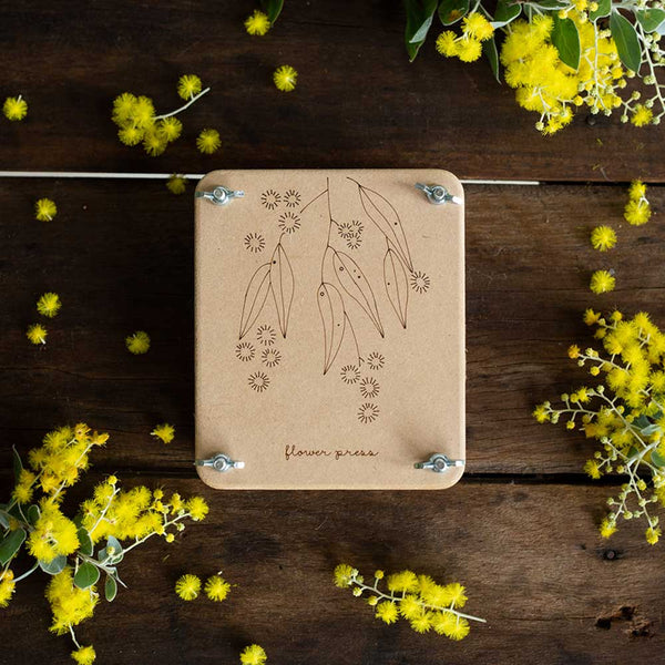 mini flower press - wattle