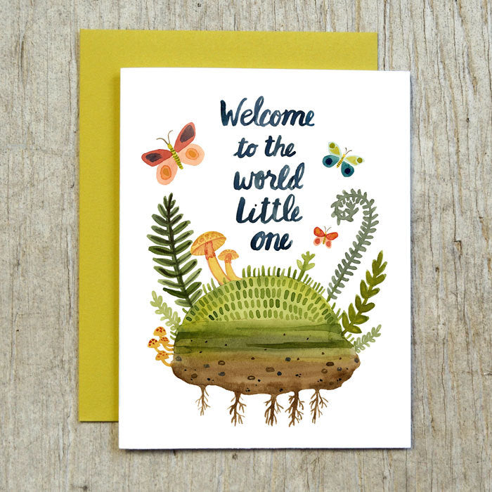 'welcome to the world' greeting card