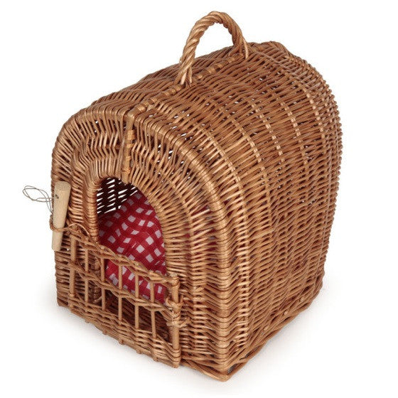 wicker pet carrier