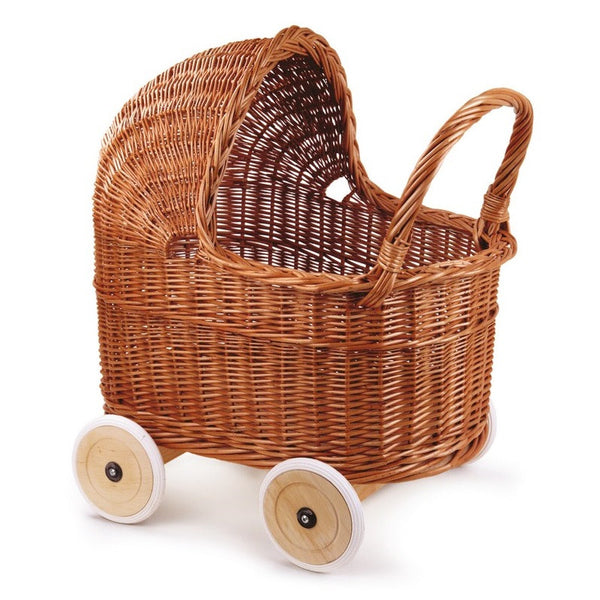 wicker pram - full