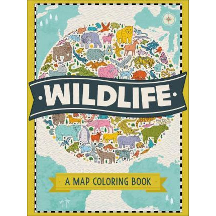 wildlife; a map colouring book