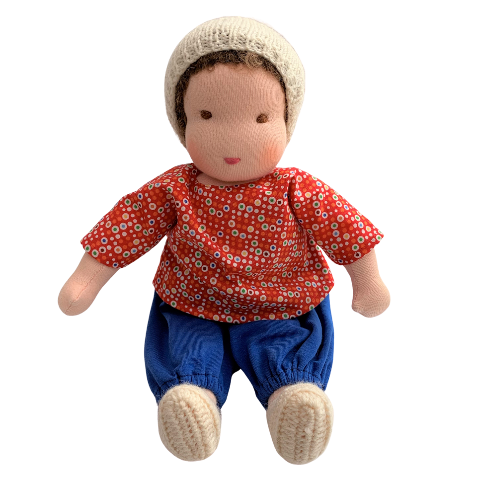 william - waldorf boy doll with brown hair (various)