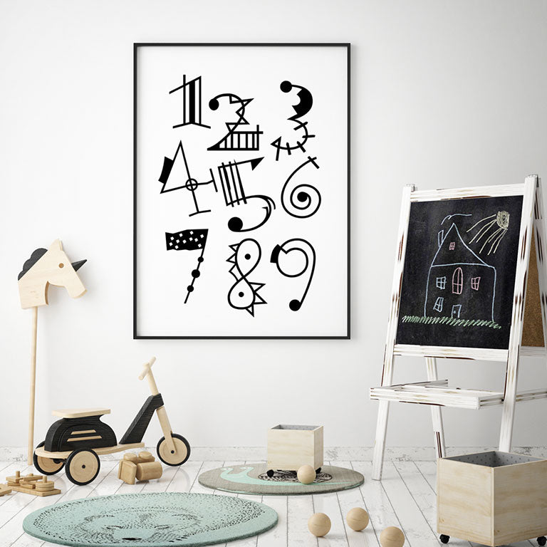 1 2 3 Numbers - Wall Decor