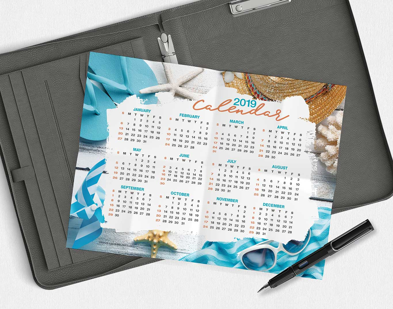 Beach and Coastal Scene - Desk Calendar