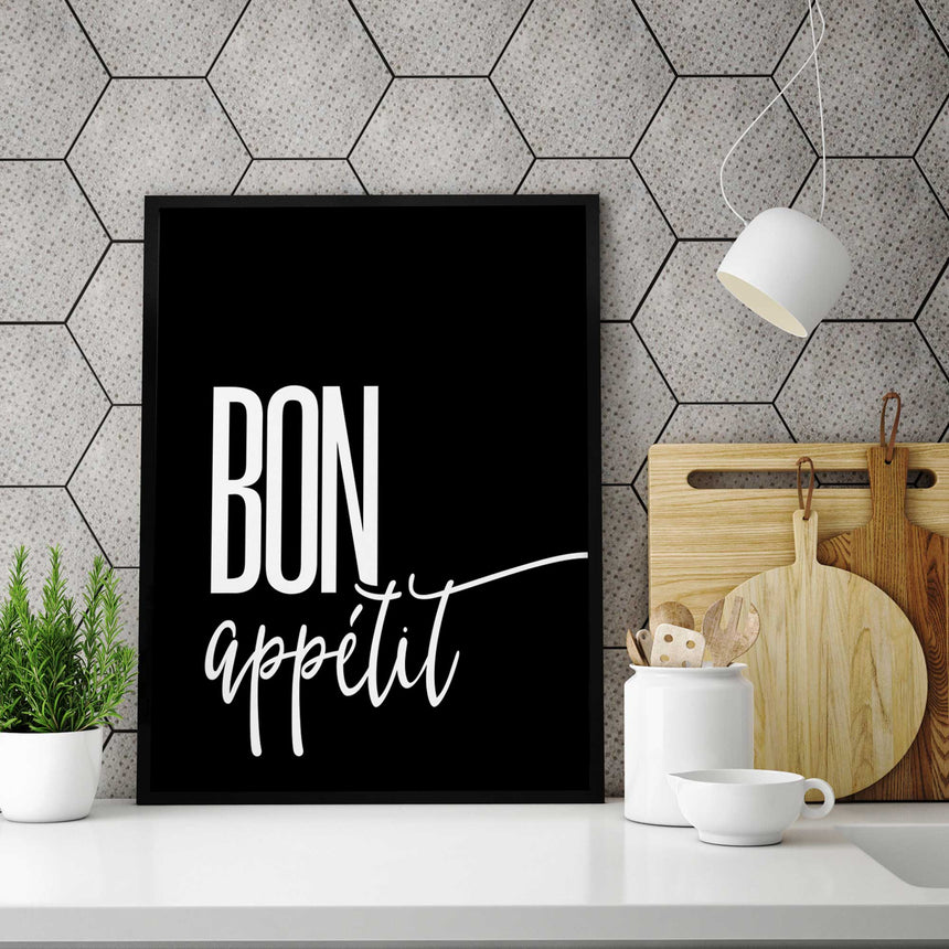 Bon appétit - French expression - Wall Decor